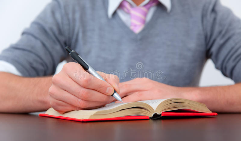 Schreiben Sie Schreibtisch stockbild