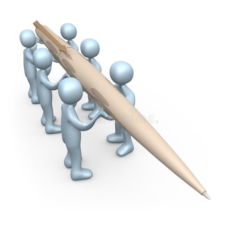 Schreiben Sie Zusammen Redaktionelles Stockfoto