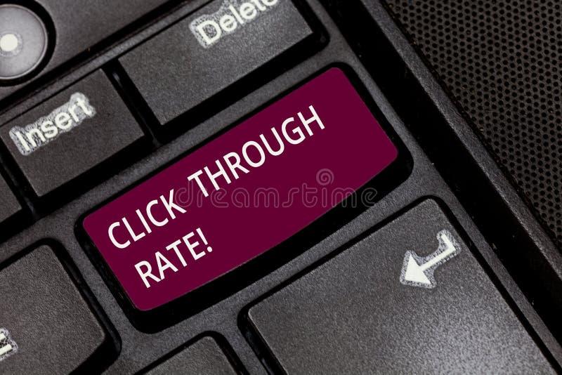 Schreiben von Anmerkungsvertretung Klicken durch Rate Präsentationsanteil des Geschäftsfotos der Besucher, die Verbindung zu best lizenzfreies stockbild
