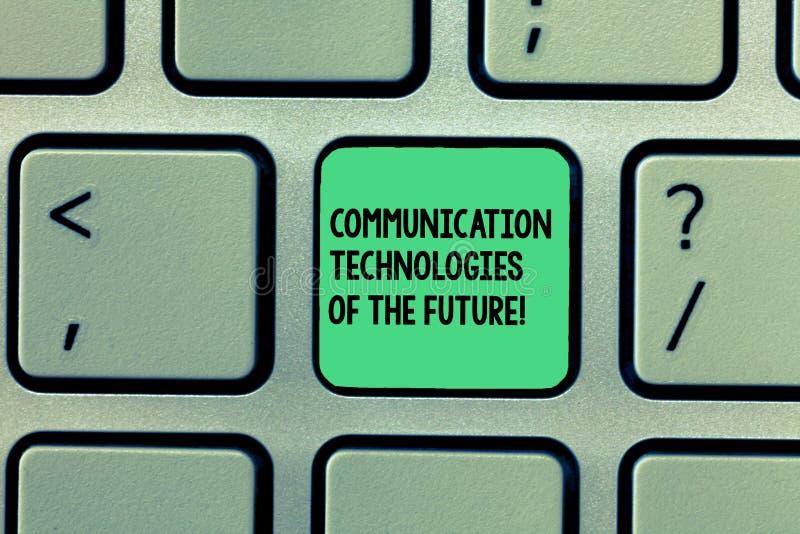 Schreiben von Anmerkungsvertretung Kommunikationstechnologien der Zukunft Geschäftsfoto, das modernes innovatives Social Media zu stockfotografie