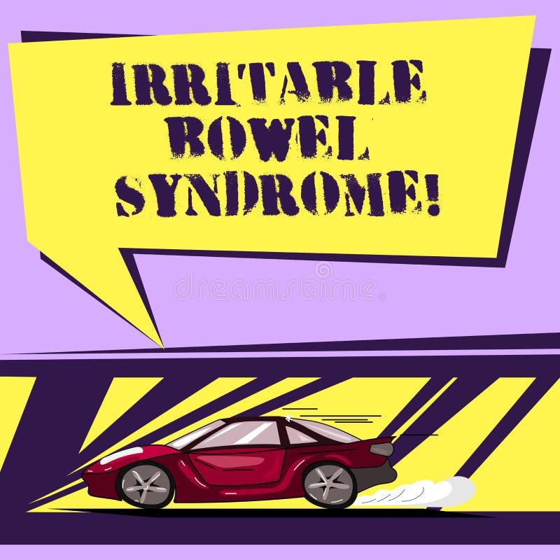 Schreiben von Anmerkungsvertretung Reizdarmsyndrom Geschäftsfoto Präsentationsstörung, die Bauchschmerzen und Diarrhöe mit einbez stock abbildung