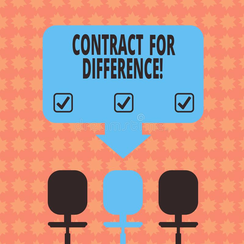 Schreiben von Anmerkungsvertretung Vertrag für Unterschied Präsentationsvertrag des Geschäftsfotos zwischen einem Investor und ei vektor abbildung