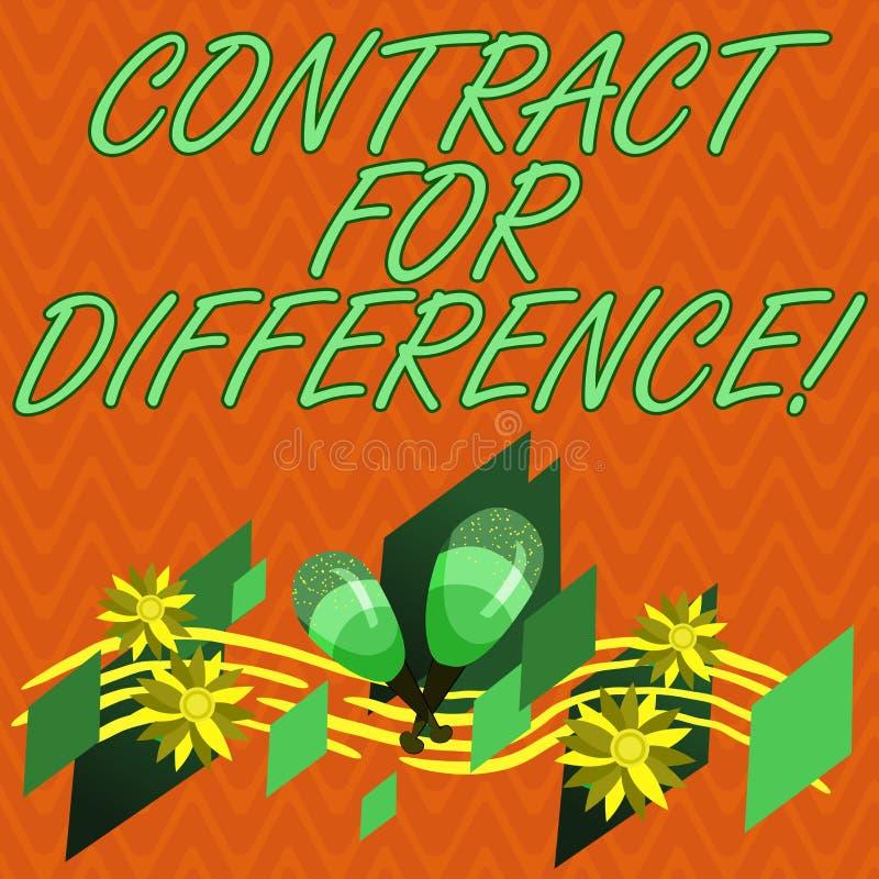 Schreiben von Anmerkungsvertretung Vertrag für Unterschied Präsentationsvertrag des Geschäftsfotos zwischen einem Investor und ei stock abbildung