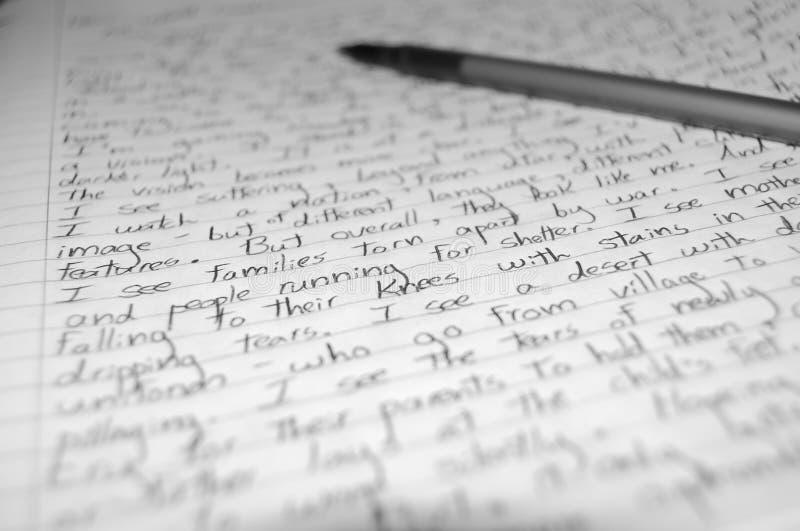 Schreiben von Ihrem Inneren lizenzfreie stockfotografie
