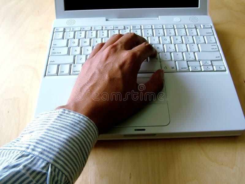 Schreibencomputer stockbilder
