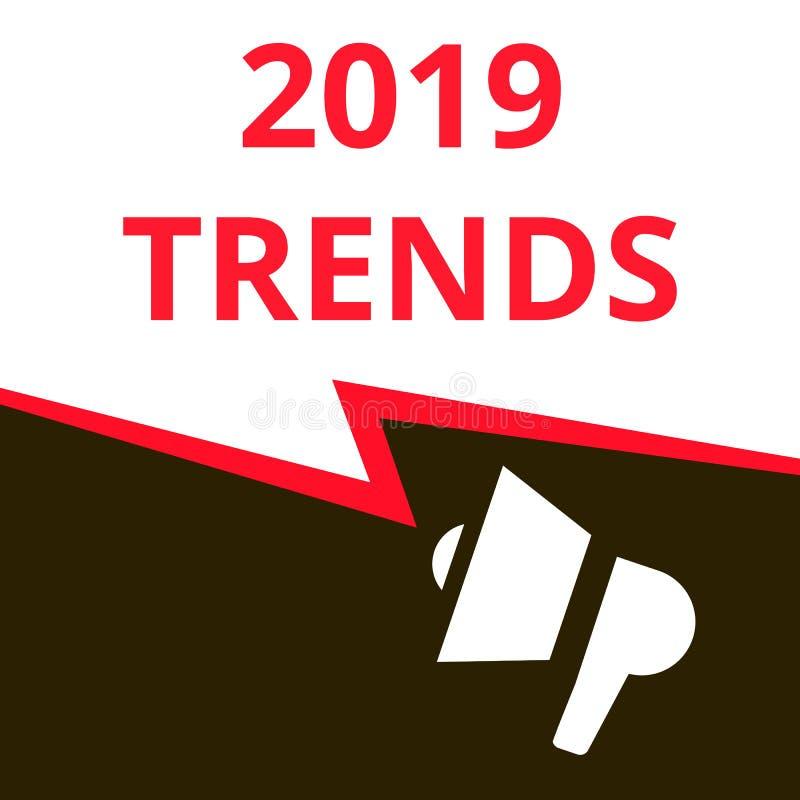Schreibende Begriffsvertretung 2019 Tendenzen stock abbildung