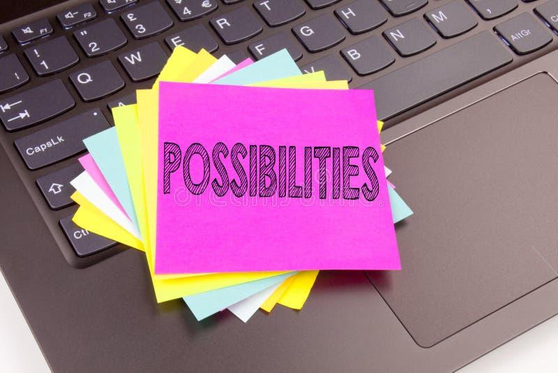 Schreibens-Möglichkeiten simsen gemacht in der Büronahaufnahme auf Laptop-Computer Tastatur Geschäftskonzept für unmögliche auser stockfotos