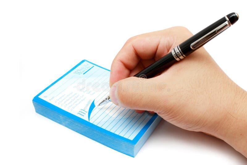Schreibens-Protokoll lizenzfreies stockfoto