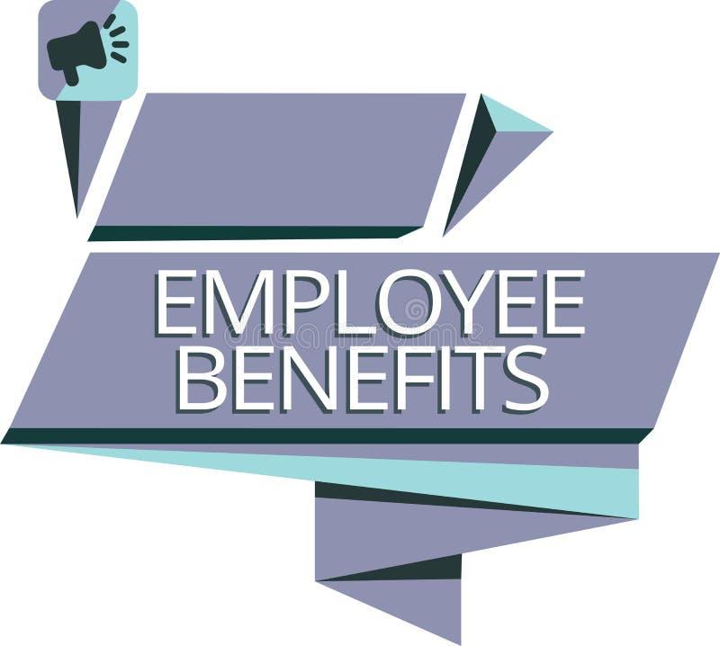 Schreibensanmerkung, die Angestellten Nutzen zeigt Die indirekte Geschäftsfotopräsentation und der Noncashausgleich zahlten einem stock abbildung