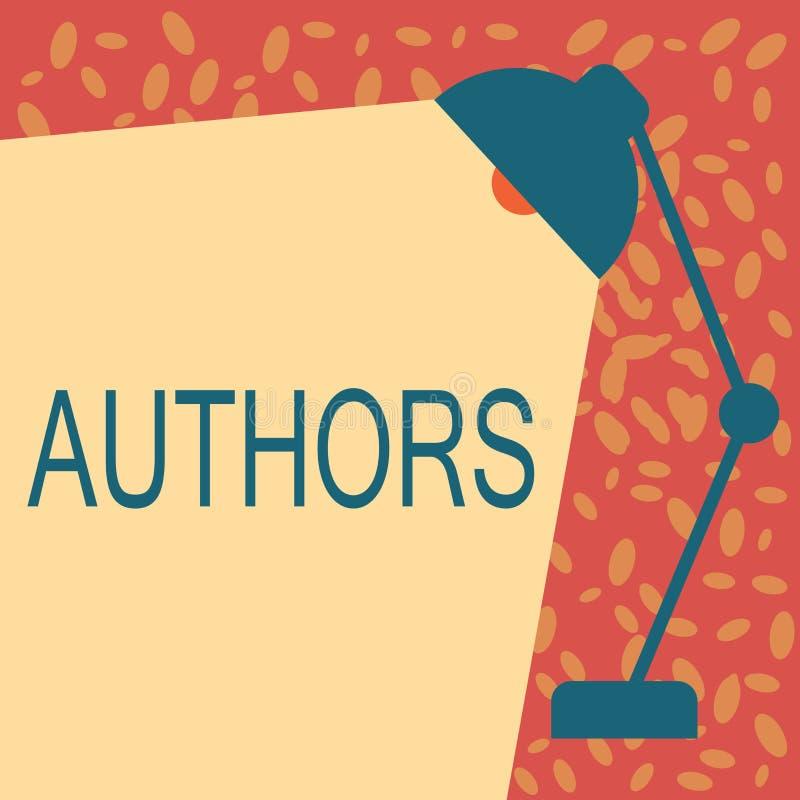 Schreibensanmerkung, die Autoren zeigt Geschäftsfoto Präsentationsverfasser des kreativen Verstandes Buchartikeldokumente Journal lizenzfreie abbildung