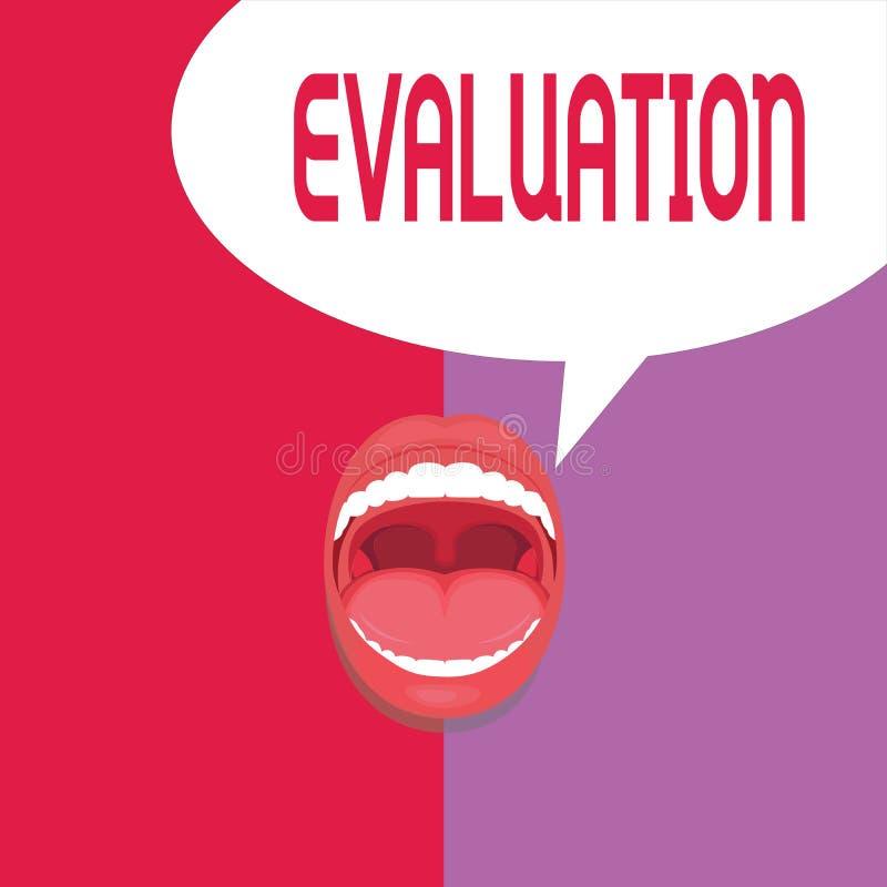 Schreibensanmerkung, die Bewertung zeigt Geschäftsfoto werten Präsentationsurteil-Feedback das Qualität perforanalysisce von aus stock abbildung