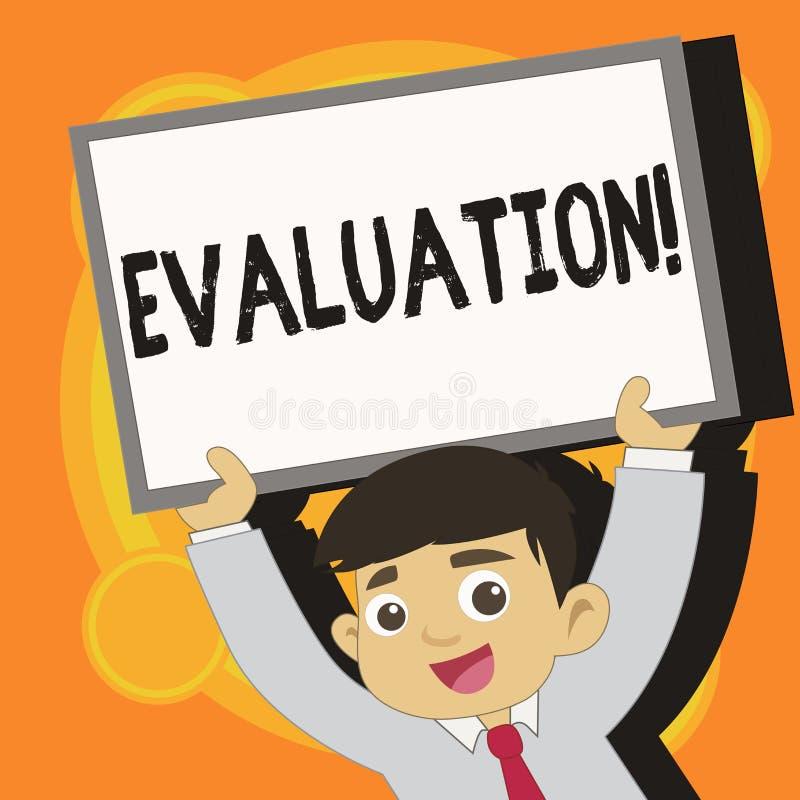 Schreibensanmerkung, die Bewertung zeigt Geschäftsfoto werten Präsentationsurteil-Feedback das Qualität perforanalysisce von aus vektor abbildung