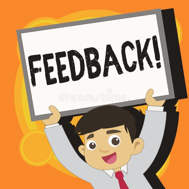 Schreibensanmerkung, die Feedback zeigt Geschäftsfoto geben Präsentationskunden-Bericht-Meinungs-Reaktions-Bewertung eine Antwort vektor abbildung