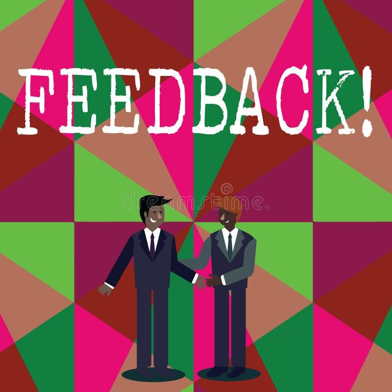 Schreibensanmerkung, die Feedback zeigt Geschäftsfoto geben Präsentationskunden-Bericht-Meinungs-Reaktions-Bewertung eine Antwort stock abbildung