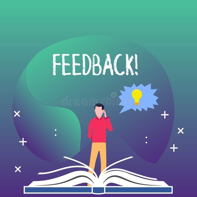 Schreibensanmerkung, die Feedback zeigt Geschäftsfoto Präsentationsbewertung ein wirtschaftlicher lokaler Gemischtwarenladen lizenzfreie abbildung