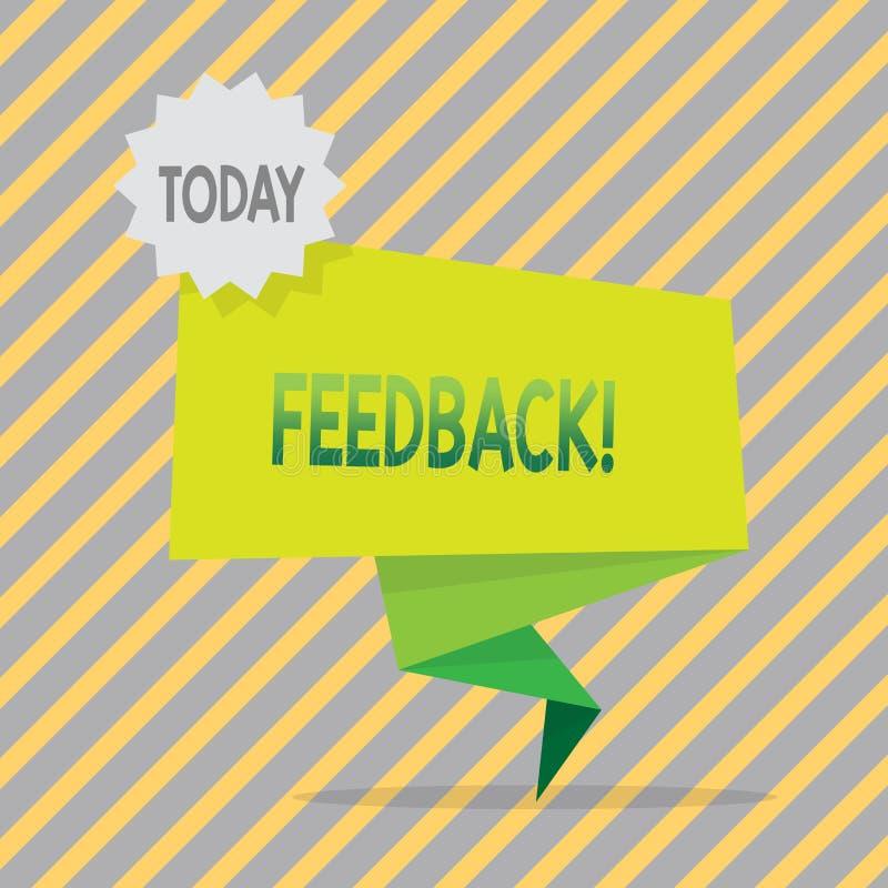 Schreibensanmerkung, die Feedback zeigt Geschäftsfoto Präsentationsbewertung ein wirtschaftlicher lokaler Gemischtwarenladen vektor abbildung