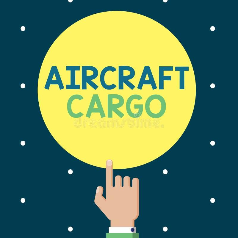 Schreibensanmerkung, die Flugzeug-Fracht zeigt Geschäftsfoto Präsentationstransportunternehmen-Luftpost-Transportwaren durch Flug vektor abbildung