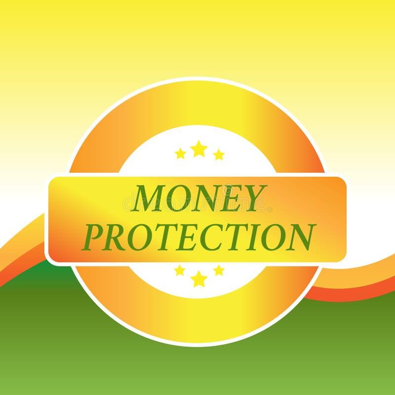 Schreibensanmerkung, die Geld-Schutz zeigt Die Gesch?ftsfotopr?sentation sch?tzt den Mietgeldp?chter zahlt dem Hauseigent?mer vektor abbildung