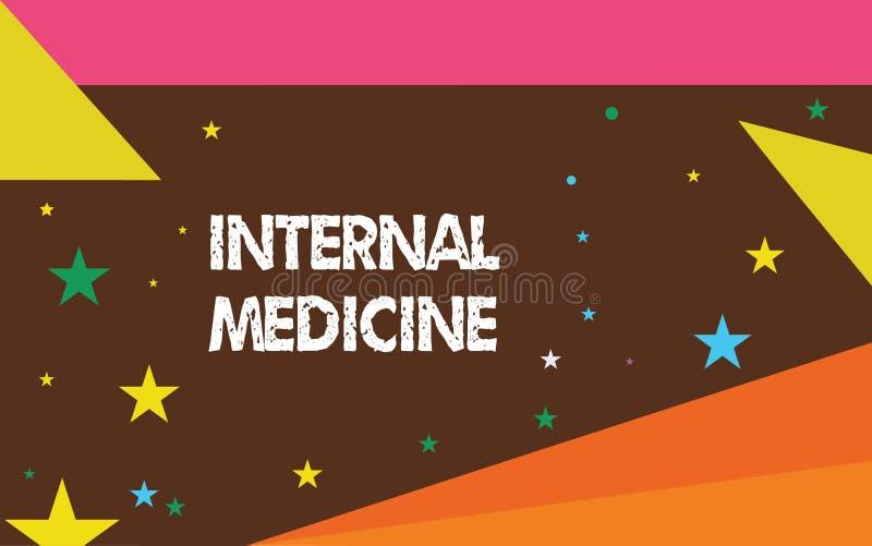 Schreibensanmerkung, die Innere Medizin zeigt Präsentationsfeld des Geschäftsfotos von Praxis konzentrierte sich auf die Behandlu lizenzfreie abbildung