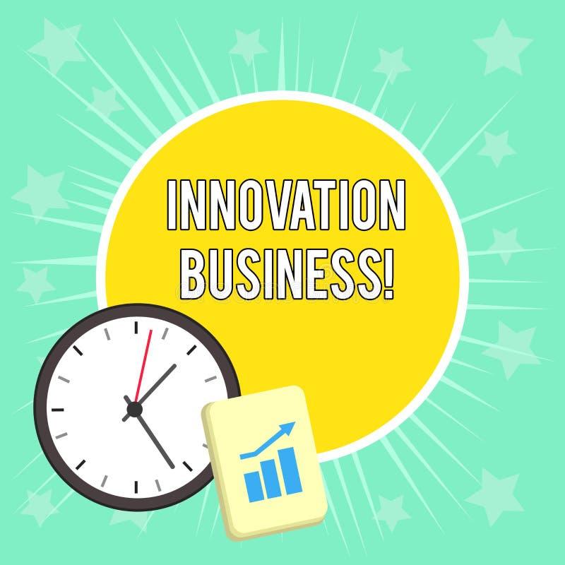 Schreibensanmerkung, die Innovations-Gesch?ft zeigt Die Gesch?ftsfotopr?sentation stellen neue Ideen-Arbeitsfluss-Methodologie-Di stock abbildung
