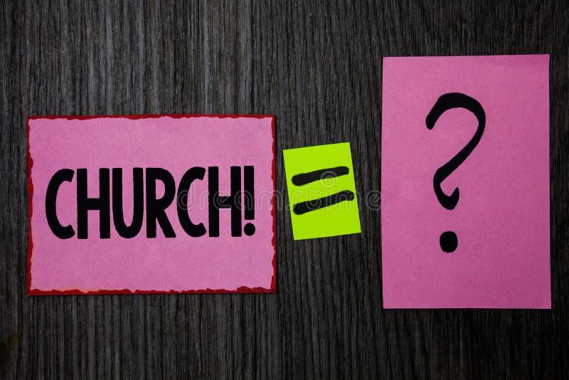 Schreibensanmerkung, die Kirche zeigt Geschäftsfoto Präsentationskathedralen-Altar-Turm-Kapellen-Moscheen-Schongebiet-Schrein-Syn stockbilder