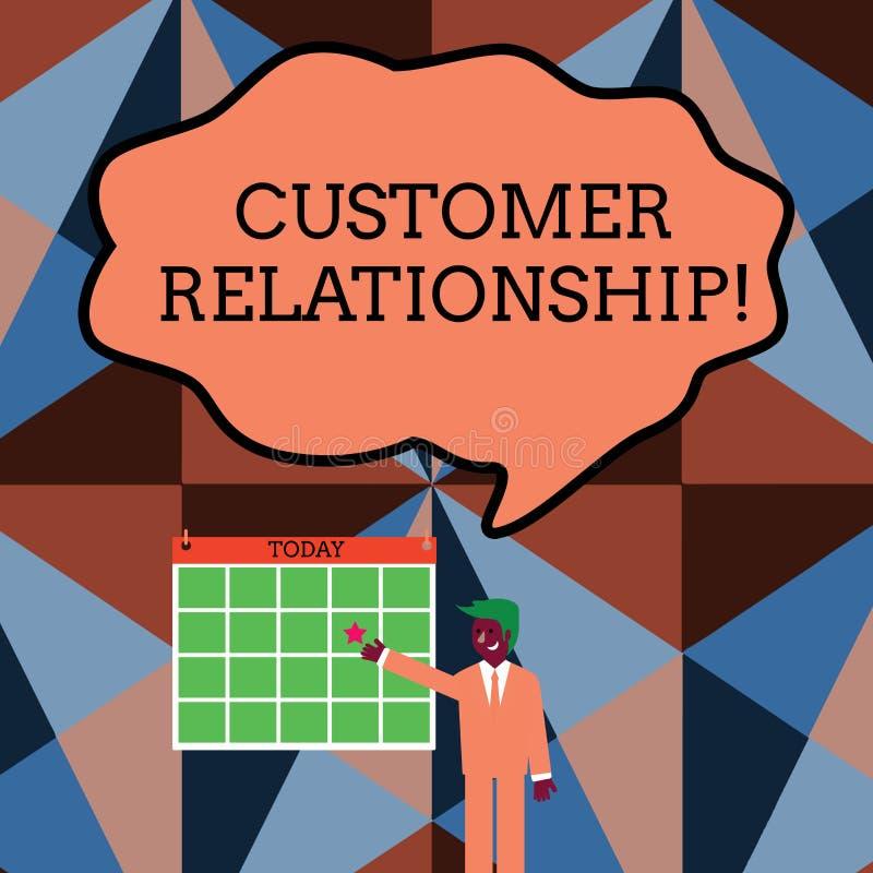 Schreibensanmerkung, die Kunden-Verh?ltnis zeigt Gesch?ftsfoto Pr?sentationsabkommen und Interaktion zwischen Firma und Verbrauch stock abbildung