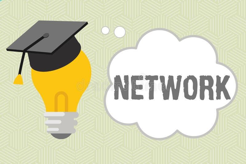 Schreibensanmerkung, die Netz zeigt Geschäftsfoto Präsentationsgruppensystem von den verbundenen darstellenden Sachen angeschloss stock abbildung