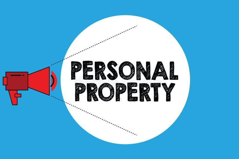 Schreibensanmerkung, die persönliches Eigentum zeigt Geschäftsfoto Präsentationssachen, denen Sie sie mit Ihnen nehmen beweglich  vektor abbildung