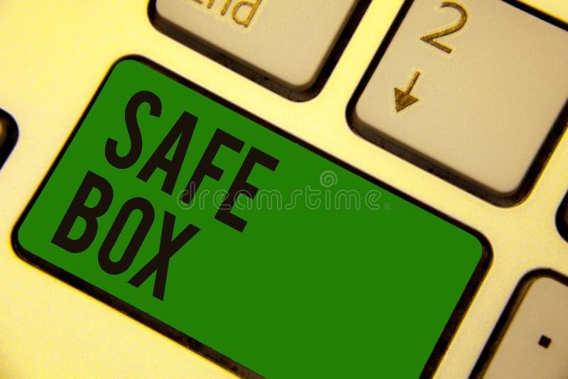 Schreibensanmerkung, die sicheren Kasten zeigt Geschäftsfoto, das kleine Struktur A zur Schau stellt, in der Sie die wichtigen od lizenzfreie abbildung