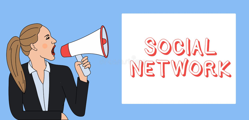 Schreibensanmerkung, die Soziales Netz zeigt Geschäftsfoto Präsentationsinteraktionen, die Informationen Interdemonstratingal tei lizenzfreie abbildung