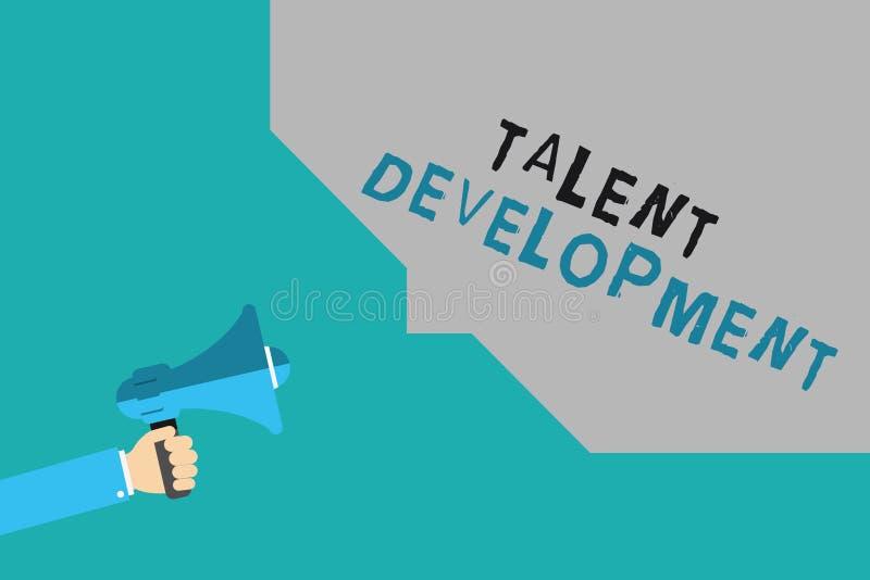 Schreibensanmerkung, die Talent-Entwicklung zeigt Geschäftsfoto Präsentationsgebäude-Fähigkeits-Fähigkeiten, die möglichen Führer lizenzfreie abbildung