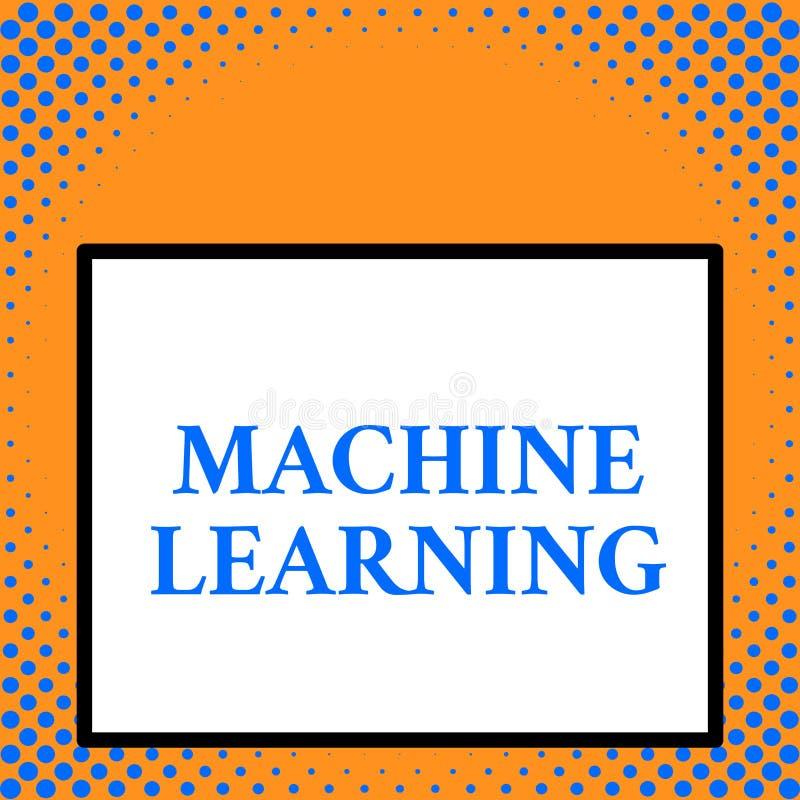 Schreibensanmerkung, welche die Lernf?higkeit einer Maschine zeigt Zur Schau stellendes Geschäftsfoto, Computern die Fähigkeit zu vektor abbildung