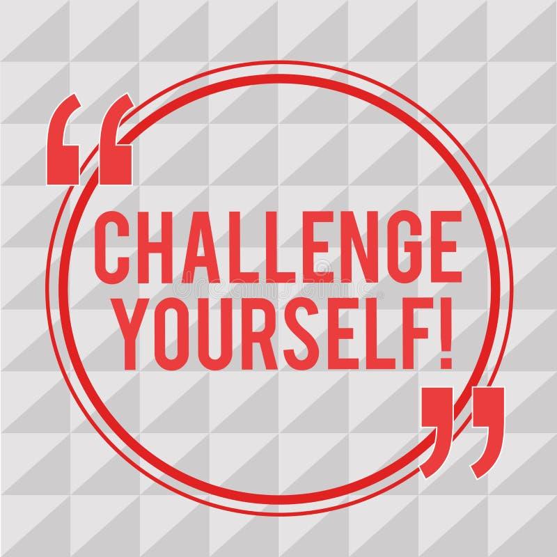 Schreibensanmerkungs-Vertretung Herausforderung sich Das Geschäftsfoto, das zur Schau stellt, höhere Standards einstellend an, st vektor abbildung