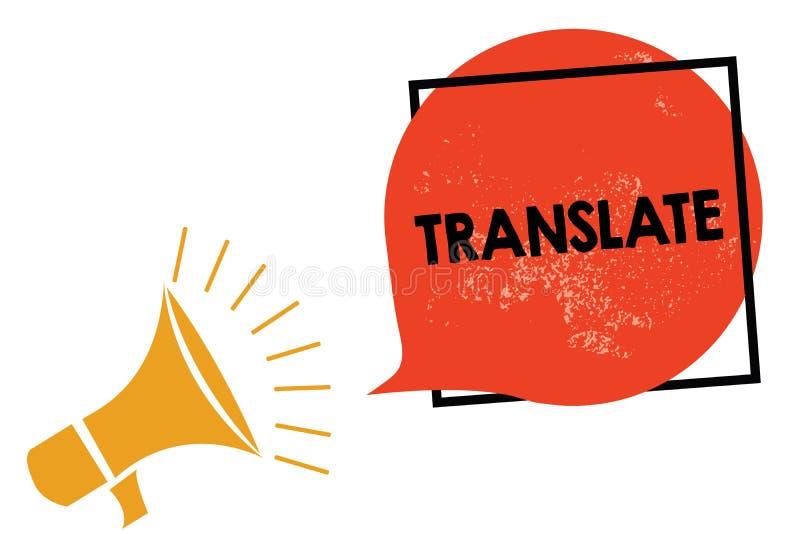 Schreibensanmerkungsvertretung übersetzen Geschäftsfoto, das ein anderes Wort mit der gleichen gleichwertigen Bedeutung eines Zie stock abbildung