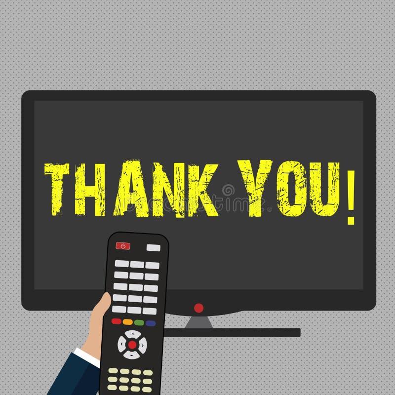 Schreibensanmerkungsvertretung danken Ihnen Geschäftsfoto Präsentationsanerkennungsgruß Bestätigungs-Dankbarkeit stock abbildung