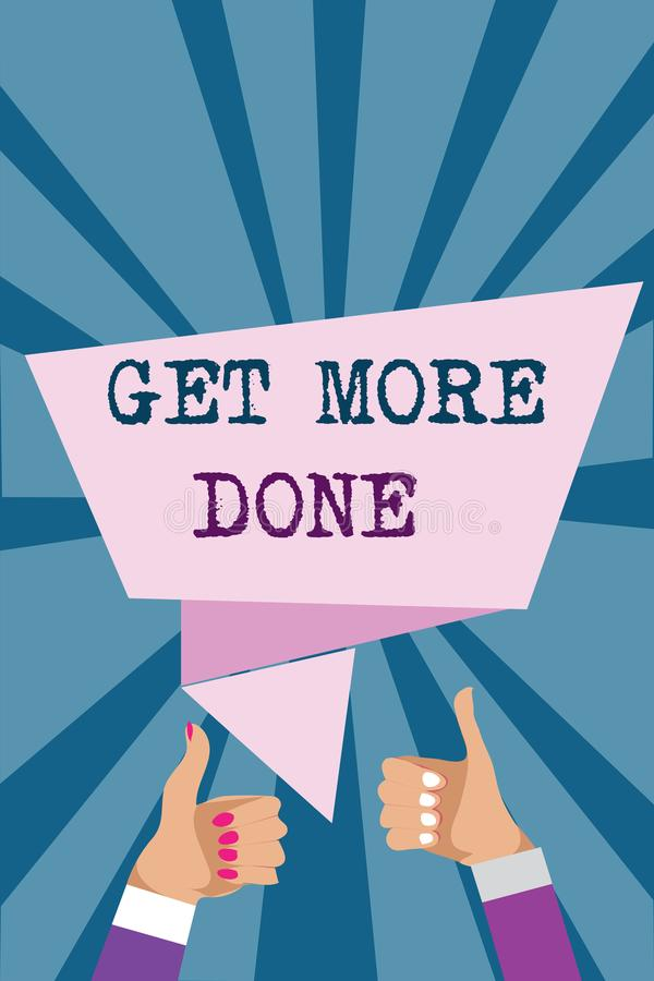 Schreibensanmerkungsvertretung erhalten getan Geschäftsfoto Präsentationscheckliste organisierter Zeit-Management-Anfangs-Hardwor lizenzfreie abbildung