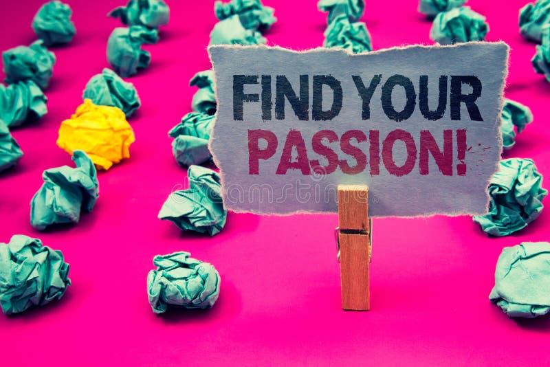 Schreibensanmerkungsvertretung finden Ihren Leidenschafts-Motivanruf Die Geschäftsfotopräsentation regen Leute finden ihren Traum lizenzfreie abbildung
