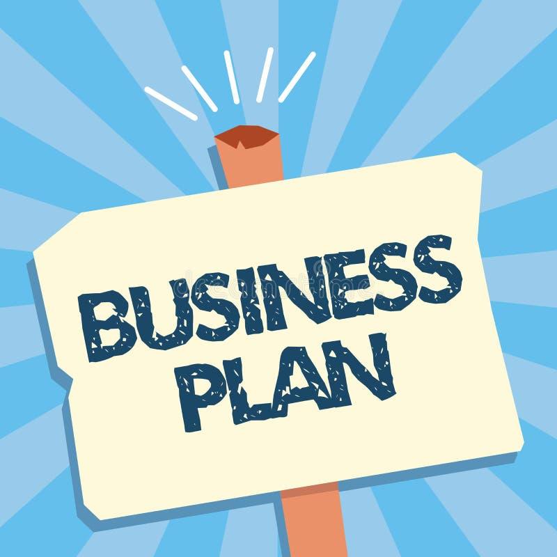 Schreibensanmerkungsvertretung Unternehmensplan Geschäftsfoto, das strukturelle die Strategie-Ziele und Ziele finanziell zur Scha stock abbildung