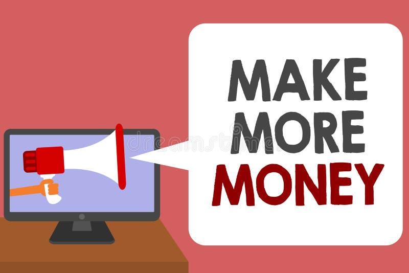Schreibensanmerkungsvertretung verdienen mehr Geld Geschäftsfoto Präsentationszunahme Ihr Einkommensgehaltsnutzen bearbeiten härt vektor abbildung