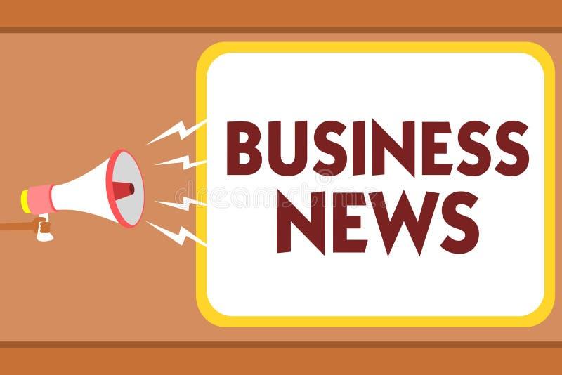 Schreibensanmerkungsvertretung Wirtschaftsnachrichten Geschäftsfoto, das Handelsmitteilungs-Handels-Berichts-Markt-Aktualisierung stock abbildung