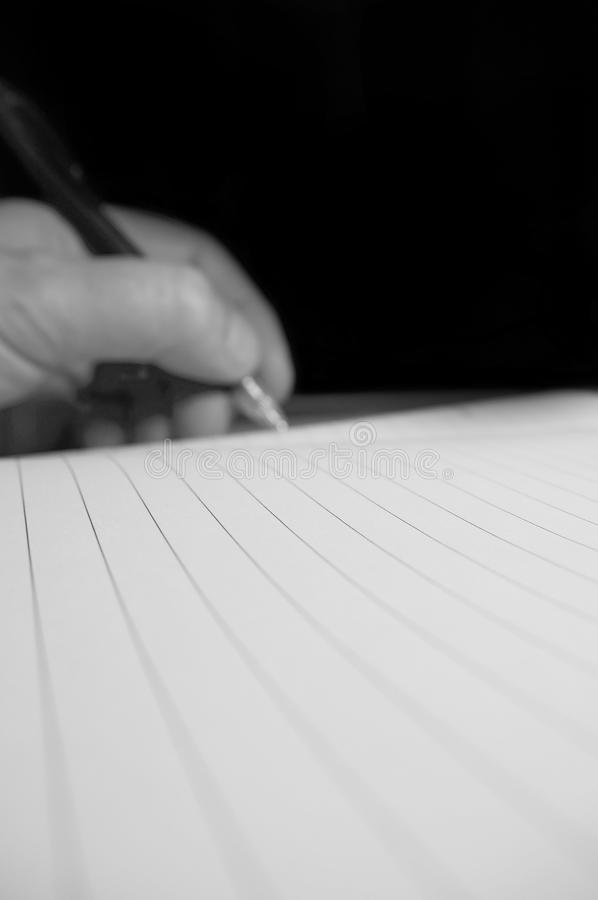 Schreibensnotizbuch A lizenzfreies stockbild