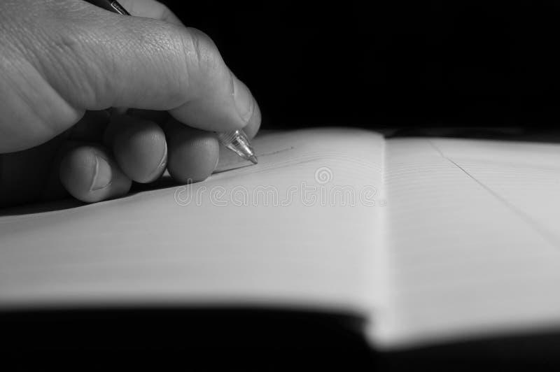 Schreibensnotizbuch C stockfoto