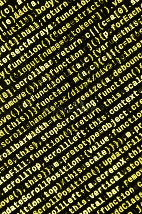 Schreibensprogrammiercode auf Laptop Binäre Daten Digital bezüglich des Bildschirms lizenzfreie abbildung
