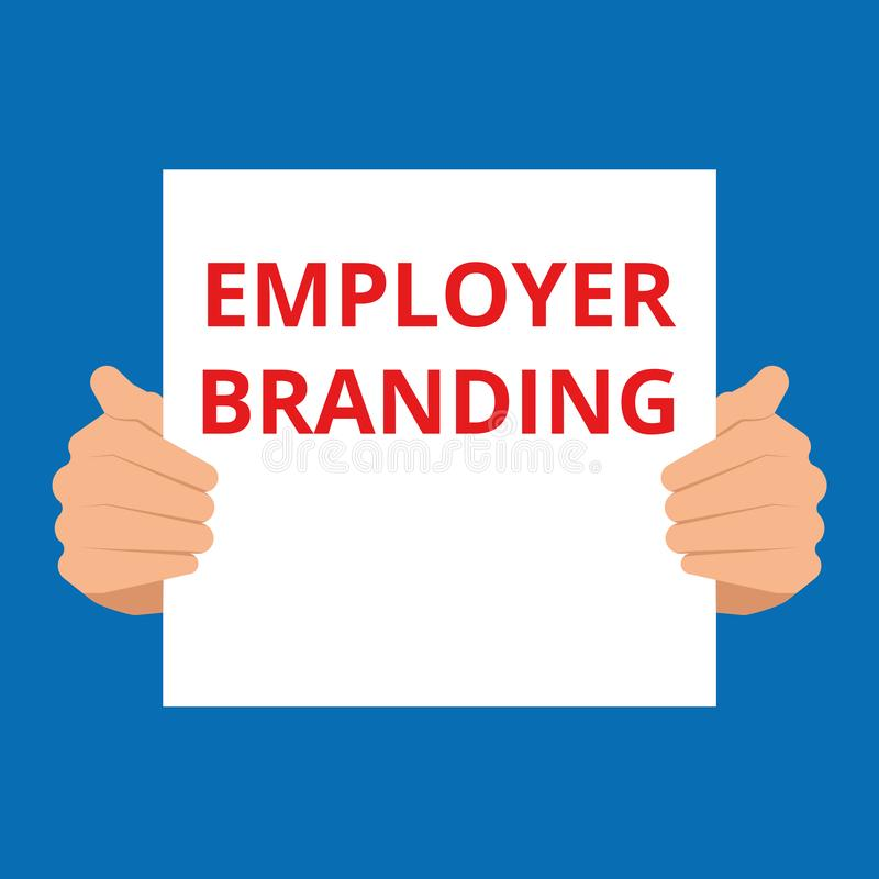 Schreibenstext, der Arbeitgeber-Branding zeigt vektor abbildung