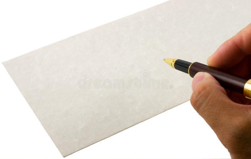 Schreibensumschlag lizenzfreie stockbilder