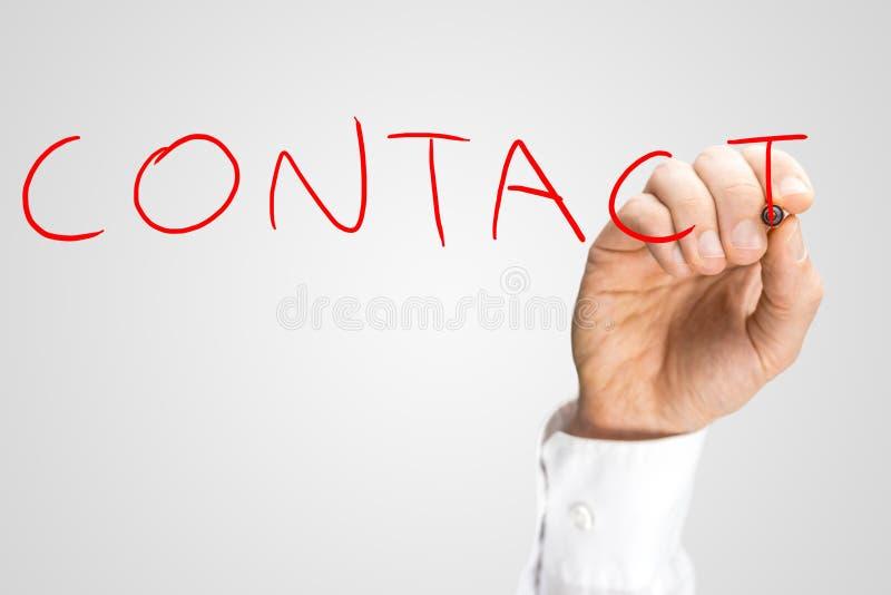 Schreibenswort Kontakt lizenzfreie stockfotografie