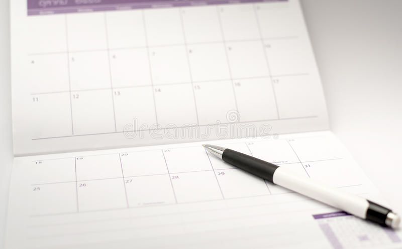 Schreiberspitze-Ereignistag auf Kalender lizenzfreies stockfoto