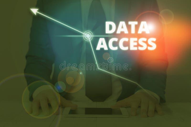 Schreibhinweis mit Datenzugriff Geschäftsfoto zeigt, wie ein Benutzer auf in einer Datenbank gespeicherte Daten zugreifen kann lizenzfreie stockfotografie