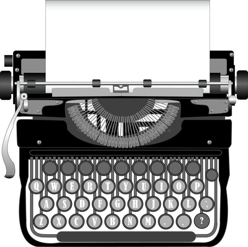 Schreibmaschine lizenzfreie abbildung