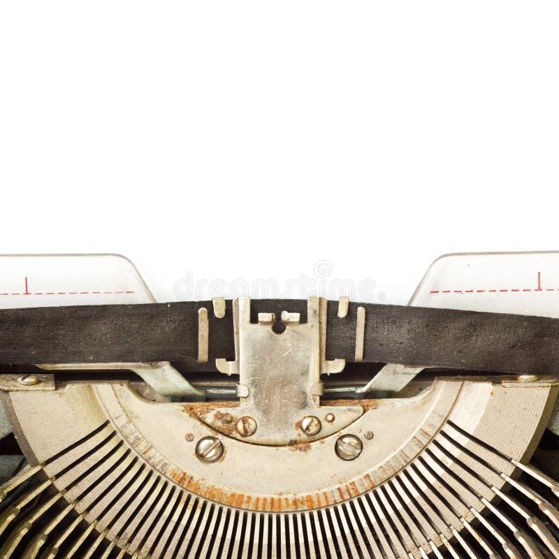 Schreibmaschine mit Leerbeleg lizenzfreie stockfotografie